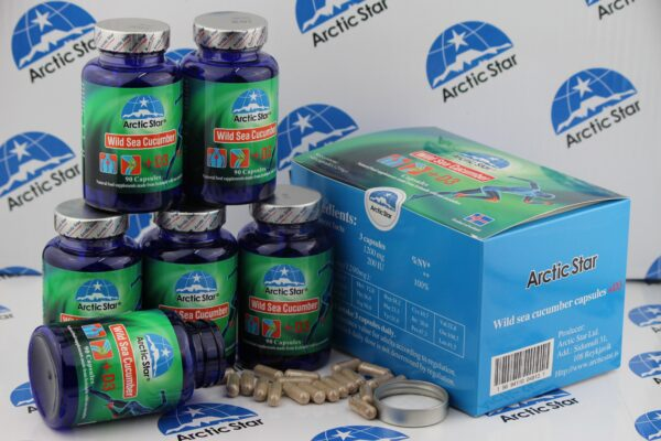 Arctic Star Sea cucumber + D3 capsules from Iceland